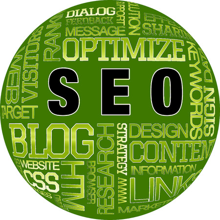 SEO Word collage pattern for advertising