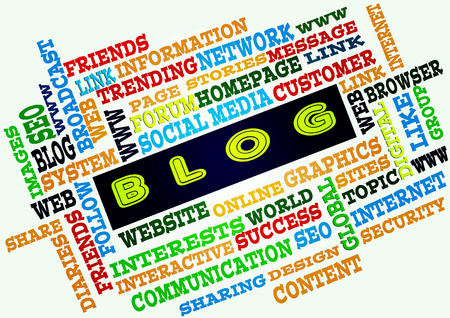 The word cloud of the BLOG as background,business and internet concept