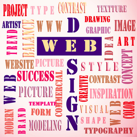 The word cloud of the web design as background,business and internet concept