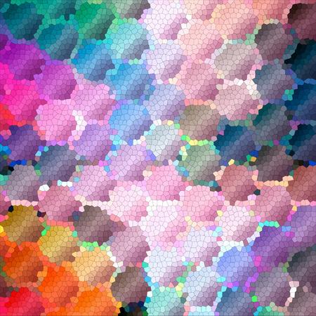 시각적 파도, 돌리기, mercator, 모자이크 및 조명 효과 함께 수평선 그라데이션의 추상 색칠 백그라운드