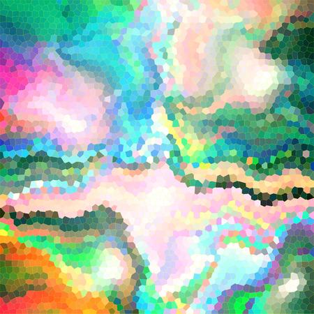 시각적 파도, 돌리기, 스테인드 글라스, mercator 및 조명 효과와 수평선 그라데이션의 추상적 인 색칠 배경