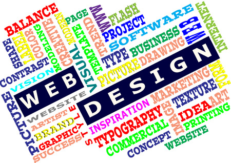 Word cloud of the web design