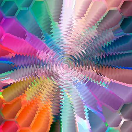 Abstract coloring background of the horizon gradient with visual mercator,mosaic,zigzag,wave and lighting effects,good for your design