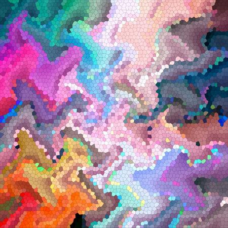 시각적 파도, 꼬집음, 돌리기, 모자이크, mercator 및 조명 효과와 지평선 그라디언트의 추상 색칠 배경