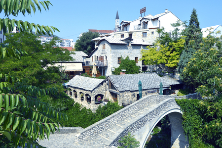 Travel to Europe under summer,Mostar in the Bosnia and Herzegovina Editorial