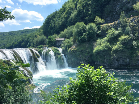Waterfall on the river Una near city-Bihac,Bosnia and Herzegovina