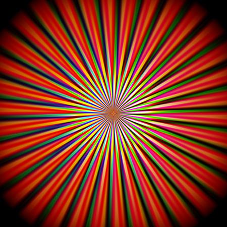 抽象的な視覚的歪み、波、ピンチ、回転、せん断、照明効果とパステル虹のグラデーションの背景を着色 写真素材
