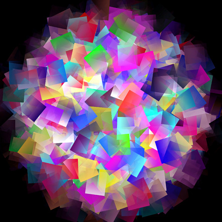 抽象的なビジュアルのディスコ、歪み、回転、ピンチ、照明効果とスカイラインのグラデーションの背景を着色 写真素材