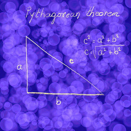 Graphics presentation of the pythagoreans theorem as background