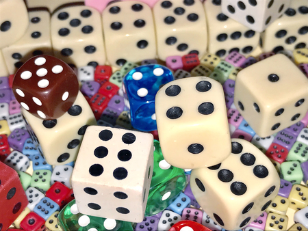 So much different dices on the table