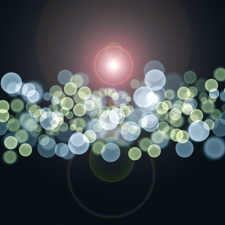 Abstract coloring background with bokeh and visual lighting effects