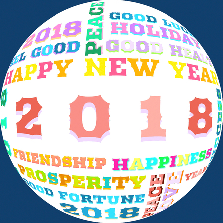 event party: Happy New Year 2018 Stock Photo