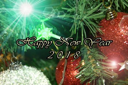 Happy New Year 2018 Stockfoto