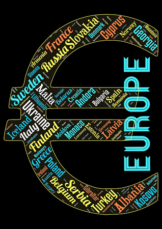 Word cloud of the Stats in Europe as background