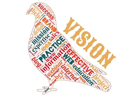Word cloud of the VISION as background Stock Photo