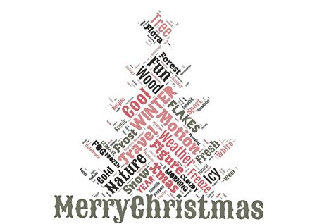 Word cloud of the Merry Christmas as background