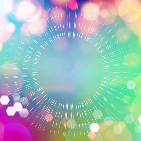 Bokeh as abstract coloring background