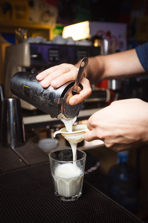 barman: Cocktail barman prepares a new cocktail 2