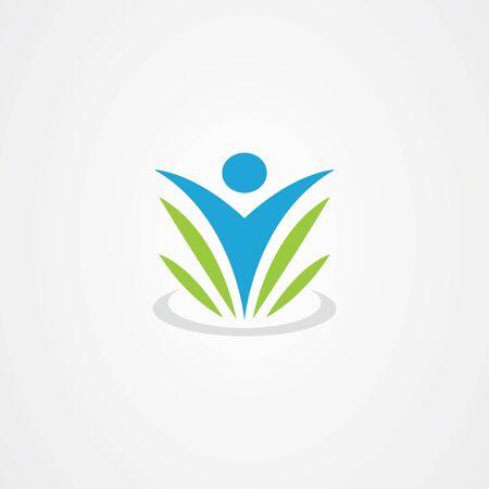 Wellness vector logo, health icon Logo