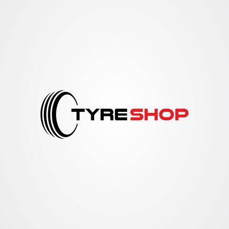 Tire shop logo template. tire icon vector illustration.
