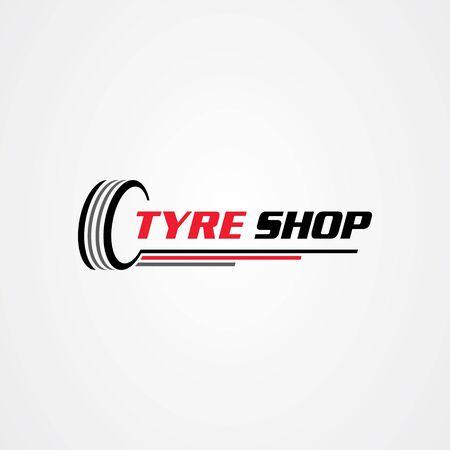Tire shop logo template. tire icon vector illustration. Logo