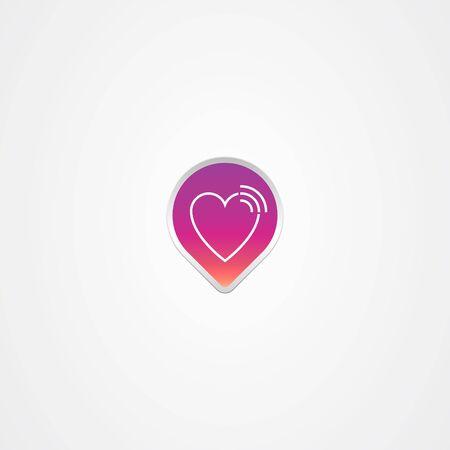 Love finder icon logo vector design