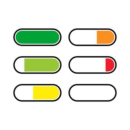 Battery icon logo vector design.