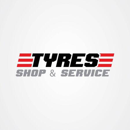 Tire shop logo template. tire icon vector illustration. Vettoriali