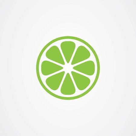 Zitronenfrucht-Symbol-Logo-Vektor-Design Logo