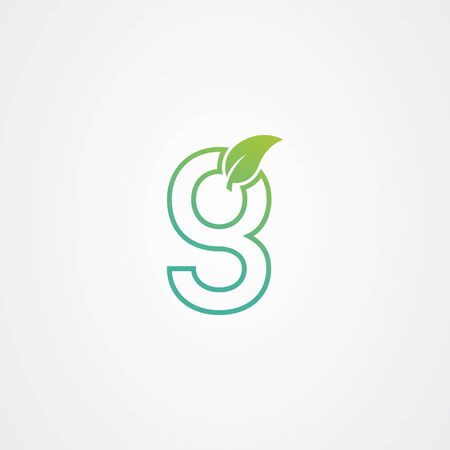 Letter g logo with leaf element, arbor day. ecology concept