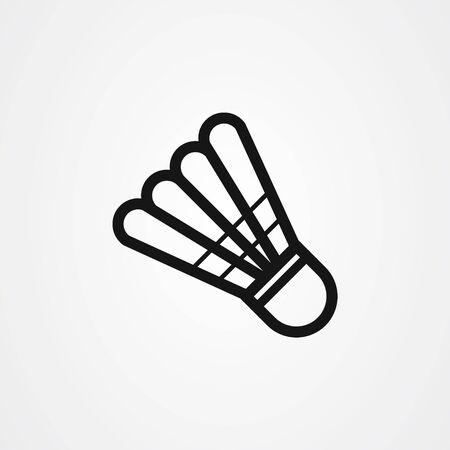 Shuttlecock icon vector design. badminton symbol.