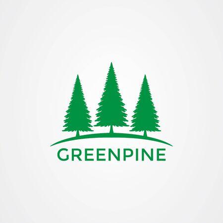 Pine tree icon logo design. vector illustration Illustration
