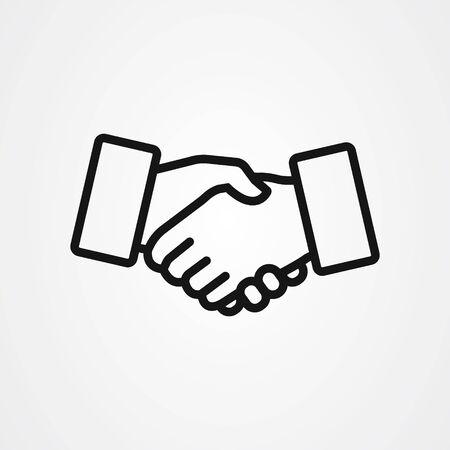 Handshake icon vector design , agreement sign illustration.  イラスト・ベクター素材