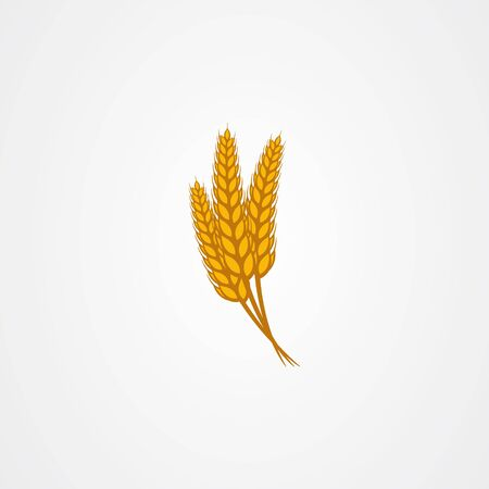 Wheat vector illustration isolated on white background Vector Illustration