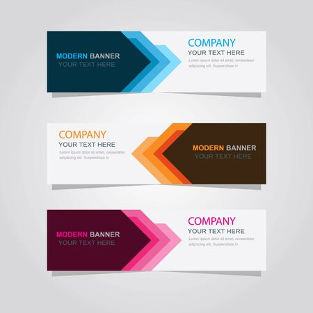 Set of banner background, modern template design