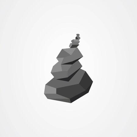 Rock balancing vector illustration. Relax zen stones balanced. Vektorové ilustrace
