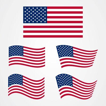 Flaggenvektor der Vereinigten Staaten von Amerika