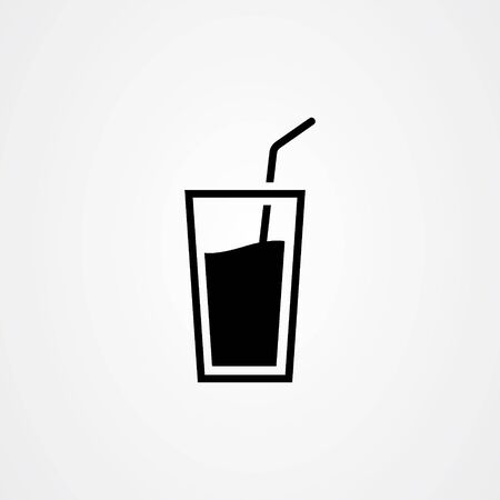 Water glass icon, drink symbol vector illustration