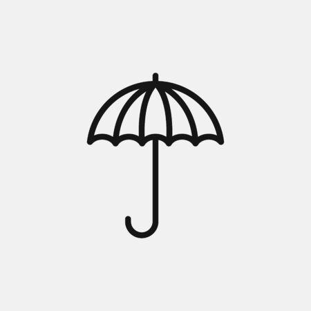 Umbrella icon logo design. simple flat vector illustration