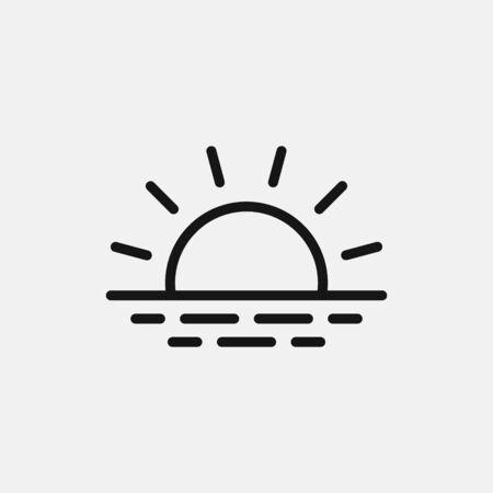 Sunrise icon logo design. simple flat vector illustration