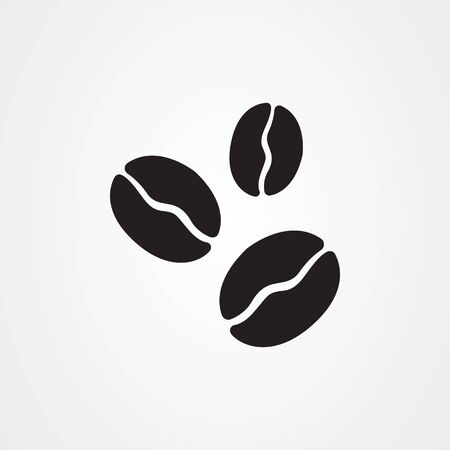 Coffee beans icon vector illustration
