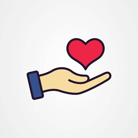Hand giving love symbol vector illustration
