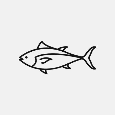 Bluefin tuna icon logo design. simple flat vector illustration Stock fotó - 150479644