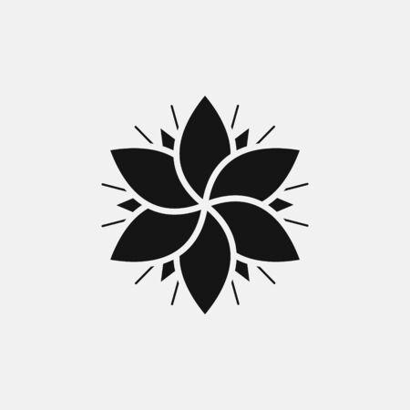 Flower icon logo design. simple flat vector illustration