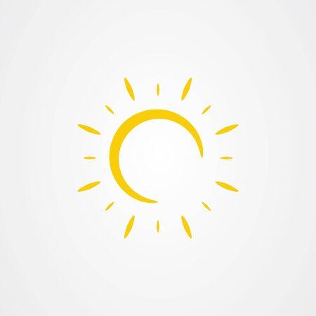Sun icon. summer symbol vector illustration. Ilustracja