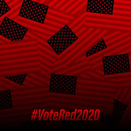 Red (republicans) vote banner background template for election campaign. Фото со стока - 150481859