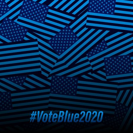 Blue (democrats) vote banner background template for election campaign.