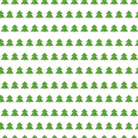 stringent: Christmas tree seamless vector pattern on white background. Illustration