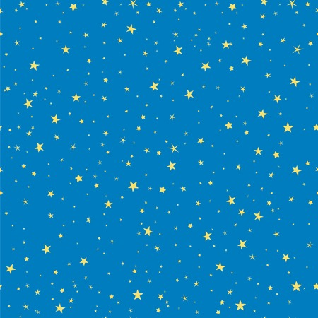 Starry seamless vector pattern for christmas holidays wrapping paper. Sparkling stars on the sky. Magic starlit background. Illustration