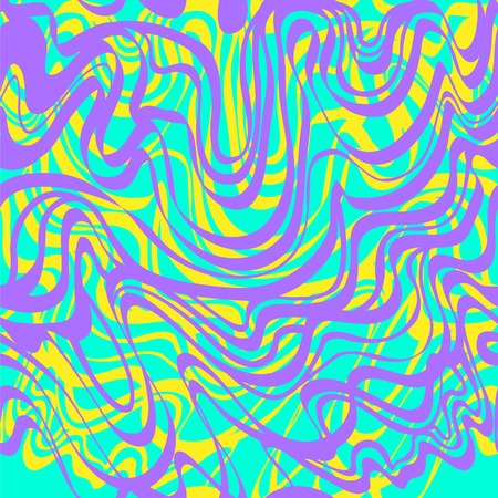 moire: Abstract pink, blue, yellow and peaches moire bubble gum pattern. Abstract curve lines wave background. Illustration